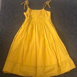 JCrew Yellow Summer Dress